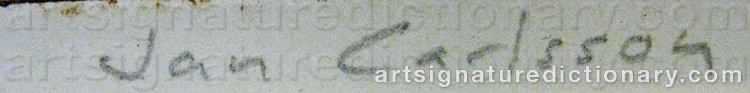 Signature by Jan Albert CARLSSON