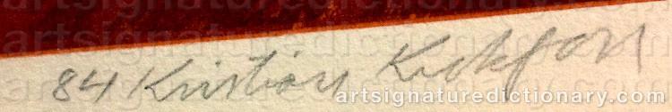 Signature by Kristian KROKFORS