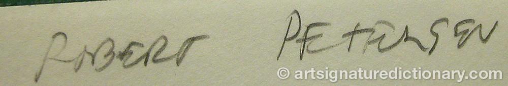 Signature by Robert PETERSEN