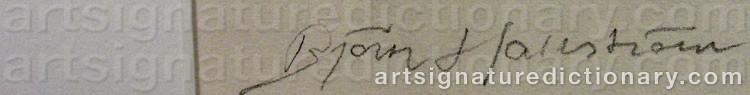 Signature by Björn HALLSTRÖM