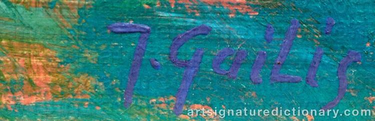 Signature by Janis GAILIS