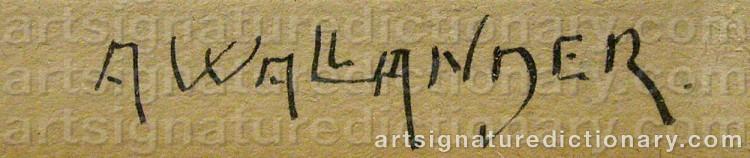Signature by Alf WALLANDER