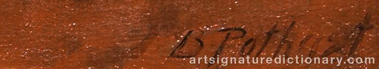 Signature by Bernard POTHAST
