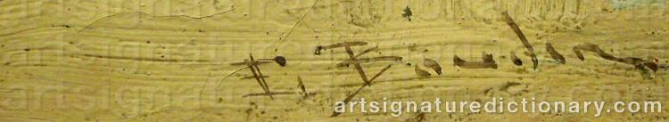 Forged signature of Eugène Louis BOUDIN