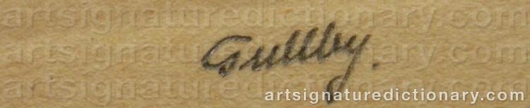 Signature by Folke GULLBY