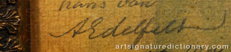 Forged signature of Albert EDELFELT