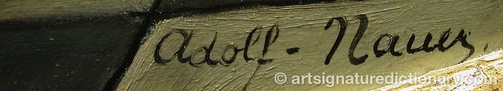 Signature by Adolf NAUER