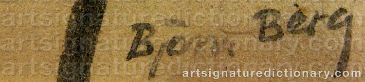 Signature by Björn BERG