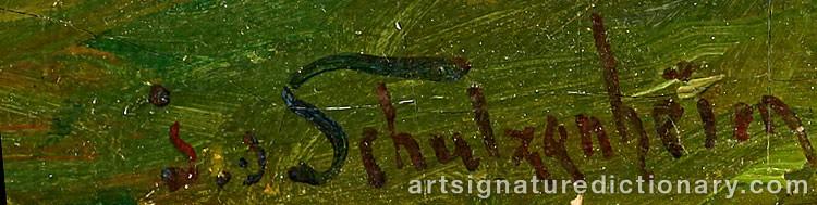 Signature by Ida Von SCHULZENHEIM