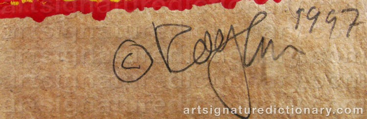 Signature by Rolf HANSON