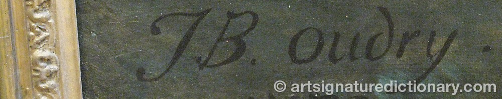 Signature by Jean-Baptiste OUDRY