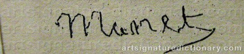 Signature by: MANET, Edouard