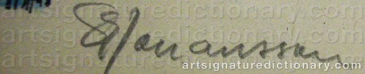 Signature by Sven-Erik JOHANSSON
