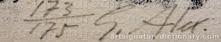 Signature by Gustav ALEXANDERSSON