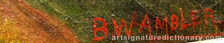 Signature by B. W. AMBLER