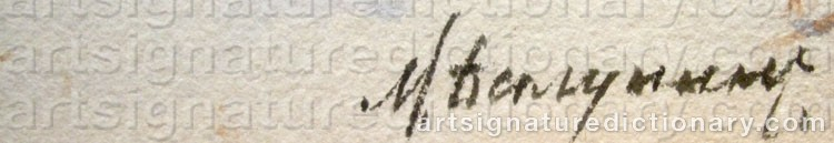 Signature by Mikhail Abramovich BALUNIN