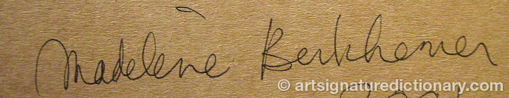 Signature by Madeleine BERKHEMER