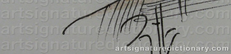 Signature by Horst JANSSEN