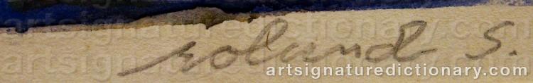 Forged signature of Roland SVENSSON