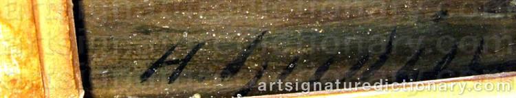 Signature by Henriette Herminie GUDIN