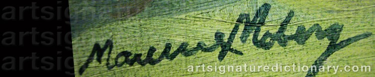 Signature by Maurice MOBERG
