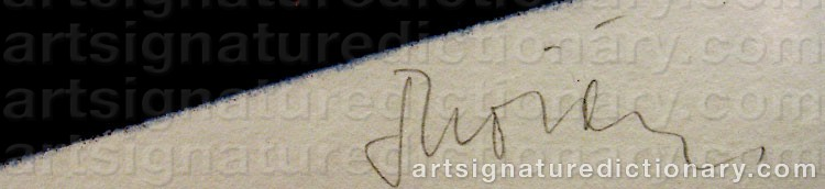 Signature by Gunnar THORÉN