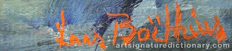 Signature by Lars BOETHIUS