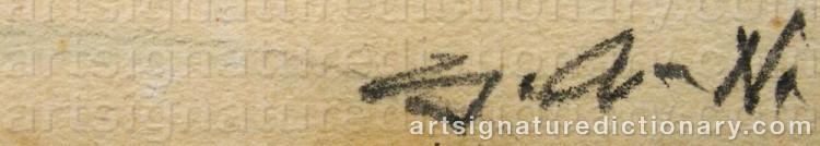 Signature by Gösta 'Gan' ADRIAN-NILSSON