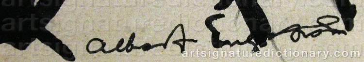 Forged signature of Albert ENGSTRÖM
