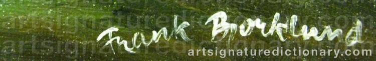 Signature by Frank BJÖRKLUND