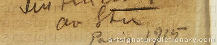 Signature by John STEN