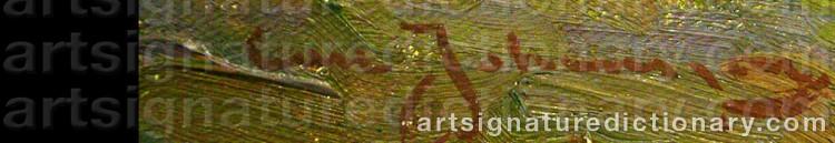 Signature by Carl JOHANSSON