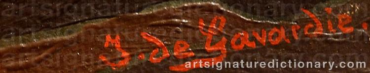 Signature by Jean De GAVARDIE