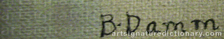 Signature by Bertil DAMM
