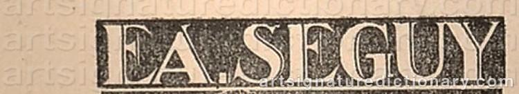 Signature by Eugene Alain SEGUY