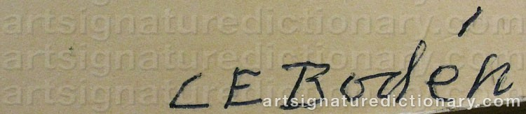 Signature by Carl Eric BODÉN