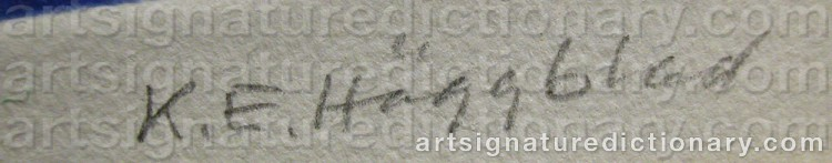 Signature by Karl-Erik HÄGGBLAD