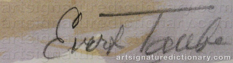 Signature by Evert TAUBE