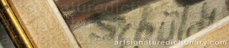 Signature by Fritiof SCHÜLDT