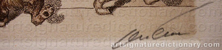 Signature by Arthur Boris O'KLEIN