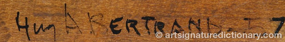 Signature by Huguette Arthur BERTRAND