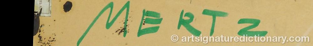 Signature by Albert MERTZ