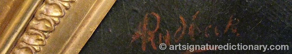 Signature by Alexander RUDBECK
