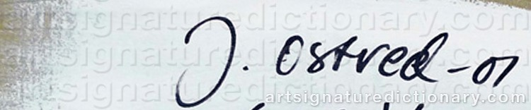 Signature by John OSTVED