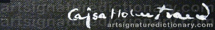 Signature by Cajsa HOLMSTRAND