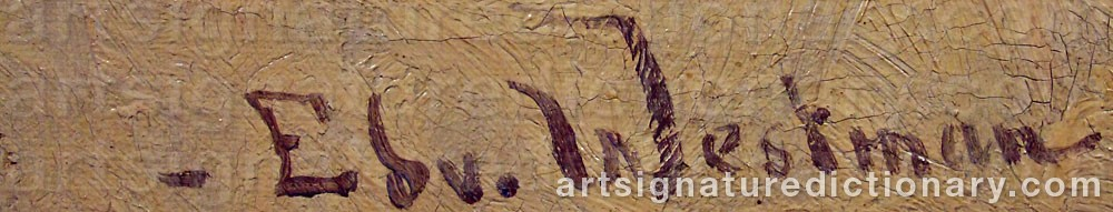 Signature by Edvard WESTMAN