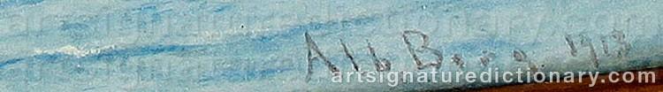 Signature by Albert BERG