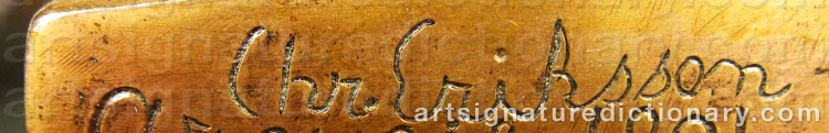 Signature by Christian ERIKSSON