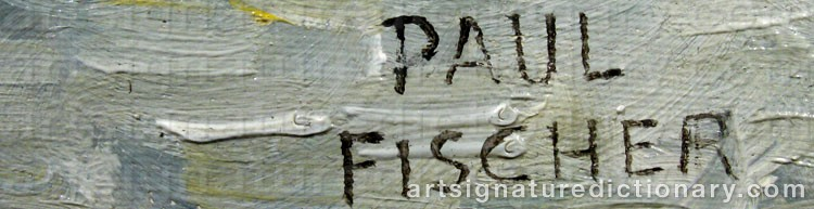 Forged signature of Paul FISCHER