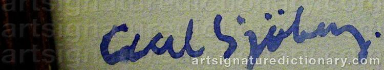 Signature by Axel SJÖBERG